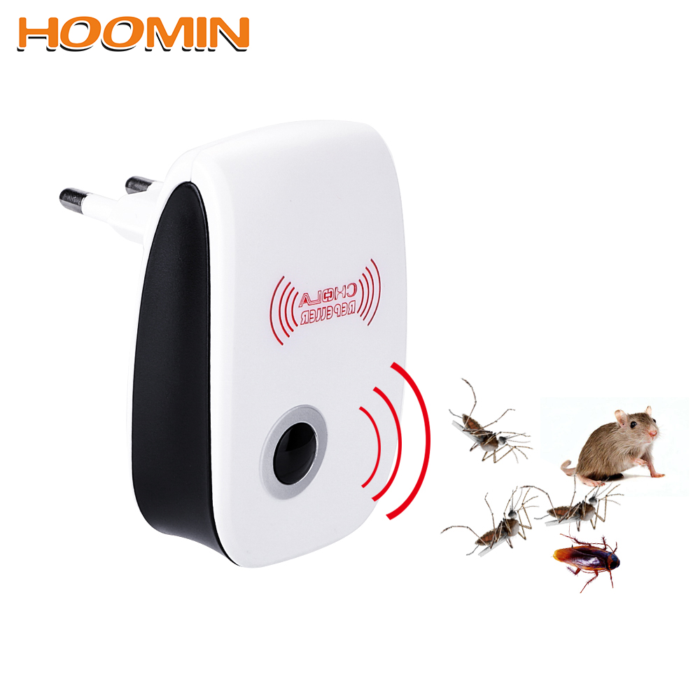 HOOMIN Electronic Mosquito Repellent EU/US Plug Rodent Contro Indoor Cockroach Mosquito Insect Killer Ultrasonic Pest Repeller