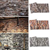 3D Brick Wall Stickers Brick Pattern Self Adhesive Wallpaper Room Home Decor For Restaurants Bedroom Living Room Stickers