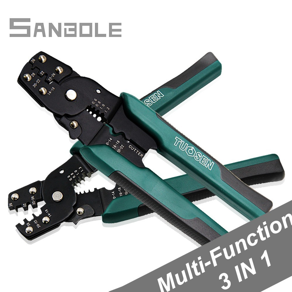 Terminal Pliers Peel Line More Function Crimping Pliers Cold Pressure Peel Wire Press Clamp Terminals Green