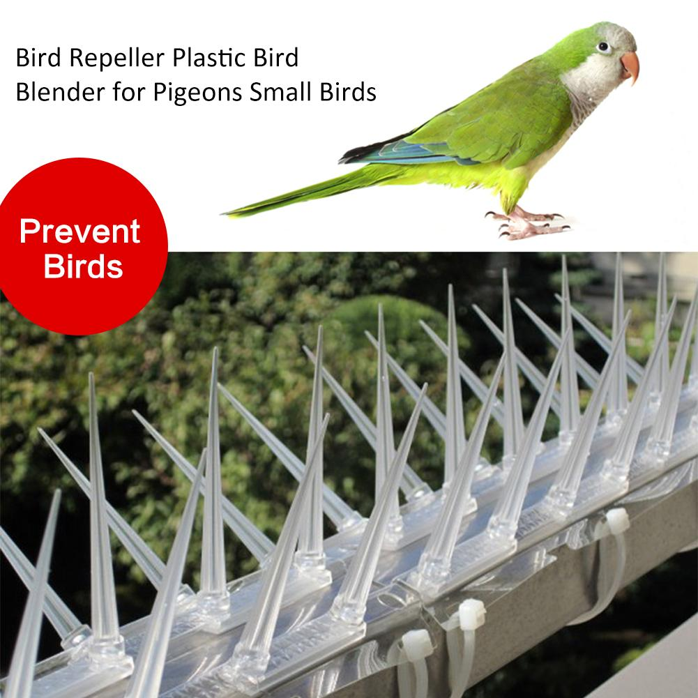 3pcs 4M Plastic Bird And Pigeon Spikes Anti Bird  Pigeon Spike For Get Rid Of Pigeons  Scare Birds Pest Control Garden Supplies