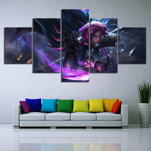 5 Piece Cartoon Pictures Paladins Game Canvas Printed Wall Home Decor For Living Room Poster Wholesale