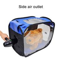 Pet Drying Box Pack Trip Out Portable Folding Breathable Dog Kennel Teddy Hair Dryer Box Grooming House Dog Bag Pet Dry Room New