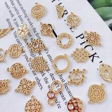 KC Позолоченные серьги-капли, аксессуары, металлическая подвеска, серьги, компоненты, ожерелье, подвески, сделай сам, материал для изготовления ювелирных изделий, 10 шт