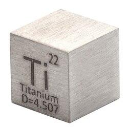 1 шт. 99.5% чистый титановый кубик высокой чистоты Ti металлический резной элемент периодически стол ремесло замечательная коллекция 10*10*10 мм
