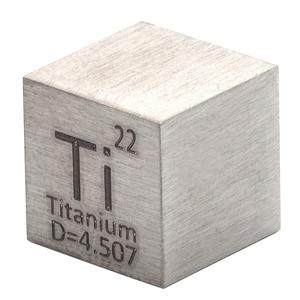 Image 1 - 1 قطعة 99.5% التيتانيوم النقي عالية النقاء مكعب Ti المعادن منحوتة عنصر الدورية الجدول الحرفية مجموعة رائعة 10*10*10 مللي متر