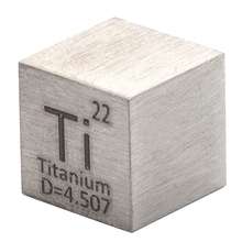 1pc 99.5% Pure Titanium High Purity Cube Ti Metal Carved Element Periodic Table Craft Wonderful Collection 10*10*10mm