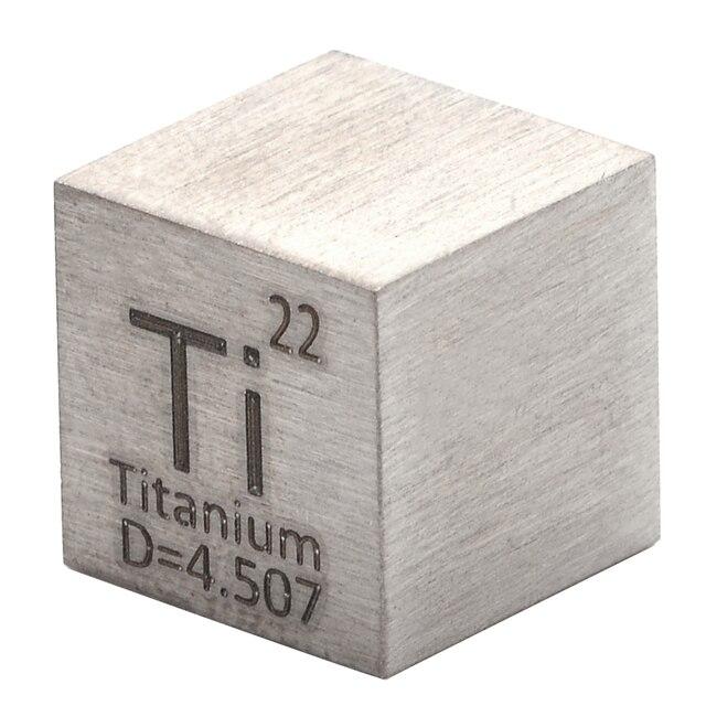 Cube en titane pur de haute pureté, 99.5%, élément sculpté en Ti, Collection périodique artisanale merveilleuse, 10x10x10mm, 1 pièce