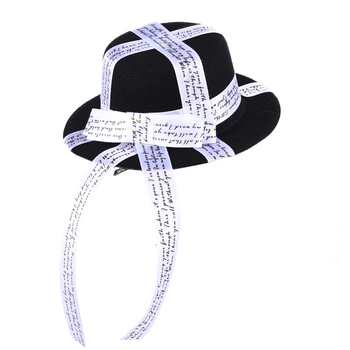 Lolita Gothic Fascinator For Women Satin Bow Ribbons Mini Top Hat Ladies Banquet Mini Hats Hair Clip Accessory 1