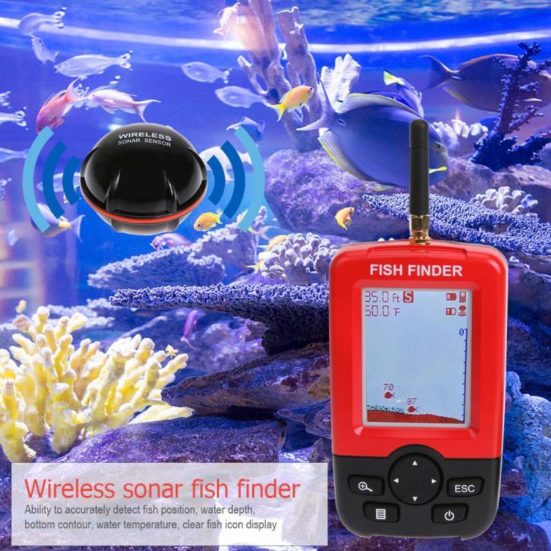 XJ-01 Portable Color LCD Display Fish Finder Wireless Sonar Transducer Echo Sounders Fishfinder Precise survey High sensitivityXJ-01 Portable Color LCD Display Fish Finder Wireless Sonar Transducer Echo Sounders Fishfinder Precise survey High sensitivity