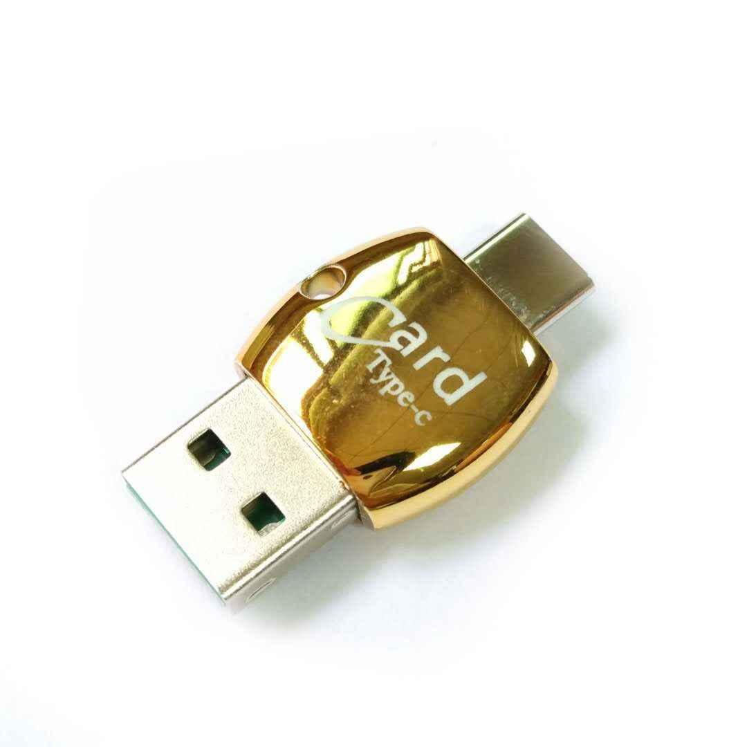 مصغرة 2 في 1 وتغ USB 3.1 نوع C إلى USB 2.0 مايكرو-SD/TF Memeory محوّل قارئ البطاقات