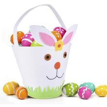 Easter Cute Long Bunny Rabbit Ears Kids Gift Bag Easter Candy Gift Set Plastic Party Favors Cookie Snack Birthday Decorations liviorap happy easter rabbit eggs decorations wooden easter eggs hanging pendant easter party supplies birthday wedding party