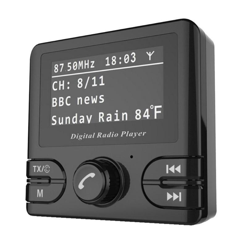 2.4 pouce Auto voiture Automagnitol LCD voiture DAB Radio récepteur FM transmetteur Bluetooth Kit mains libres 5 V Micro-USB alimentation
