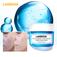 LANBENA Hyaluronic Acid Face Cream Serum Deeply Moisturizing Soothing Skin Shrinking Pores Anti Aging Whitening Skin Care 40g
