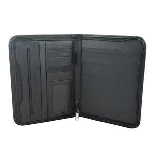 Image 3 - Многофункциональная папка для документов A4, профессиональный деловой чехол для документов из искусственной кожи, органайзер, портфель с калькулятор
