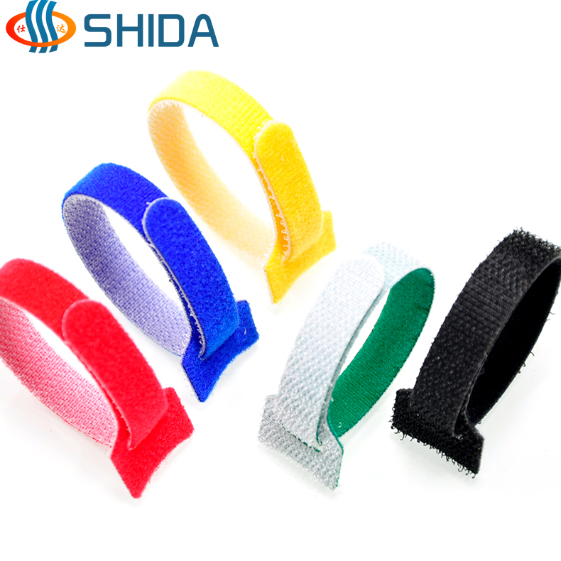 50pcs Wholesale 12*150mm Nylon Reusable Cable Ties with Eyelet Holes back to back cable tie velc nylon hook loop fastener tape