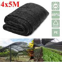 4x5m 40% Shade Cloth Net Sunblock Sun Shade Anti UV for Garden Plant Vegetable Cover Parking Sunshade Net PE Greenhouse Patio