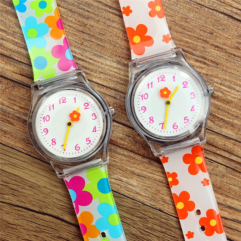 Nazeyt Kids Flower Quartz Watches Women Fashion New Water Proof Silicone Wristwatch Flor Reloj Femenino