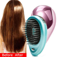 Combs Details about  Portable Electric Ionic Hairbrush Takeout Mini Ion Hair Brush Comb Massage Hair Care Tools все цены