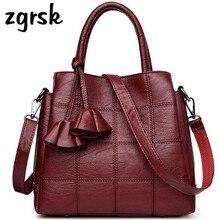Luxury Handbags Women Bags Famous Designer Leather Flowers Tassel Fashion Shoulder Summer Bag Plaid Ladies Casual