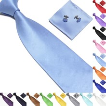 Casual Mens Ties Silk Jacquard Woven Pink For Men Wedding Business Party Cufflinks Neck Tie Set New  20 Colors