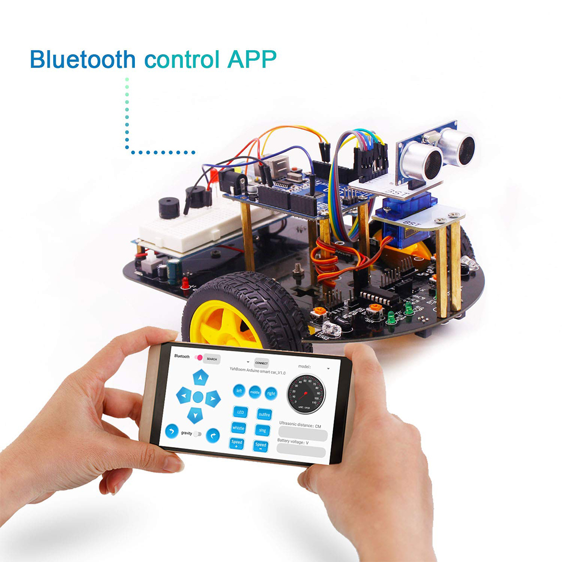 Rowsfire 2-in-1 Super Starter Smart Intelligent Robot Car With Tutorial Programmable Stem Toys For Arduino With For R3 Mainboard