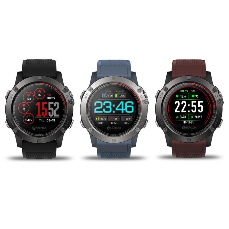 Zeblaze VIBE3 ECG Heart Rate Monitor Pedometer Tracker IP67 Smart Watch for Android 4.4/iOS 9.0 and above system