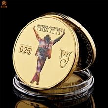 World Pop King Of The Dance Michael Jackson Gold Anniversary Gifts Famous Musician Replica Collection Coins