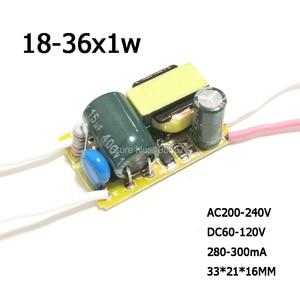 Image 5 - 2 sztuk LED sterownik stały prąd zasilanie lampy 280mA 300mA 1W 3W 5W 7W 9W 10W 20W 30W 36W 50W izolacja transformator oświetleniowy