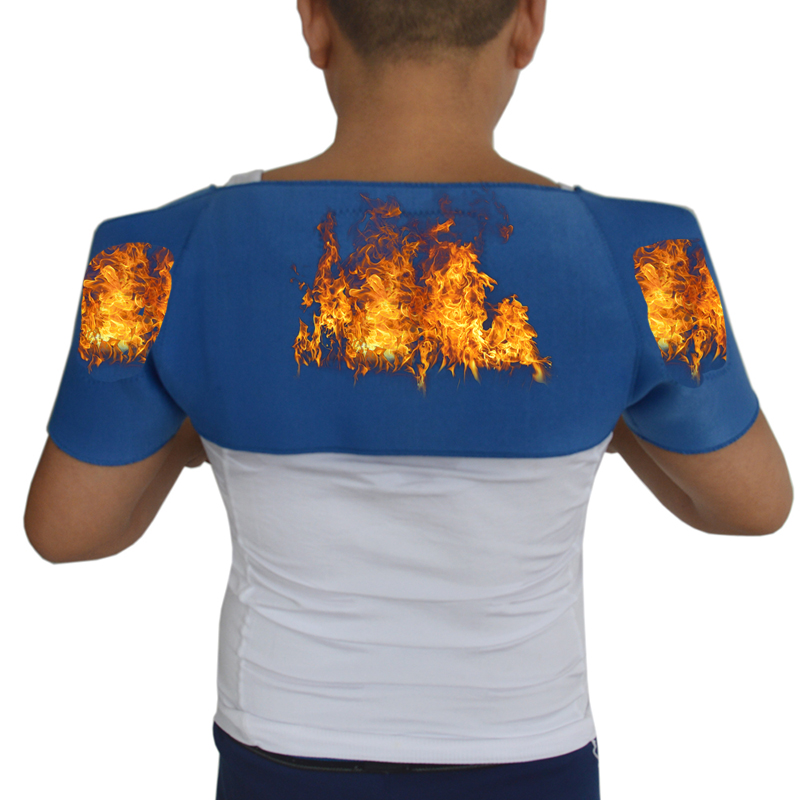Tourmaline Self-Heating Shoulder Support Relieve Pain Protective Shoulder Shoulder Pad Massage Magnetic Therapy <font><b>H002</b></font> image