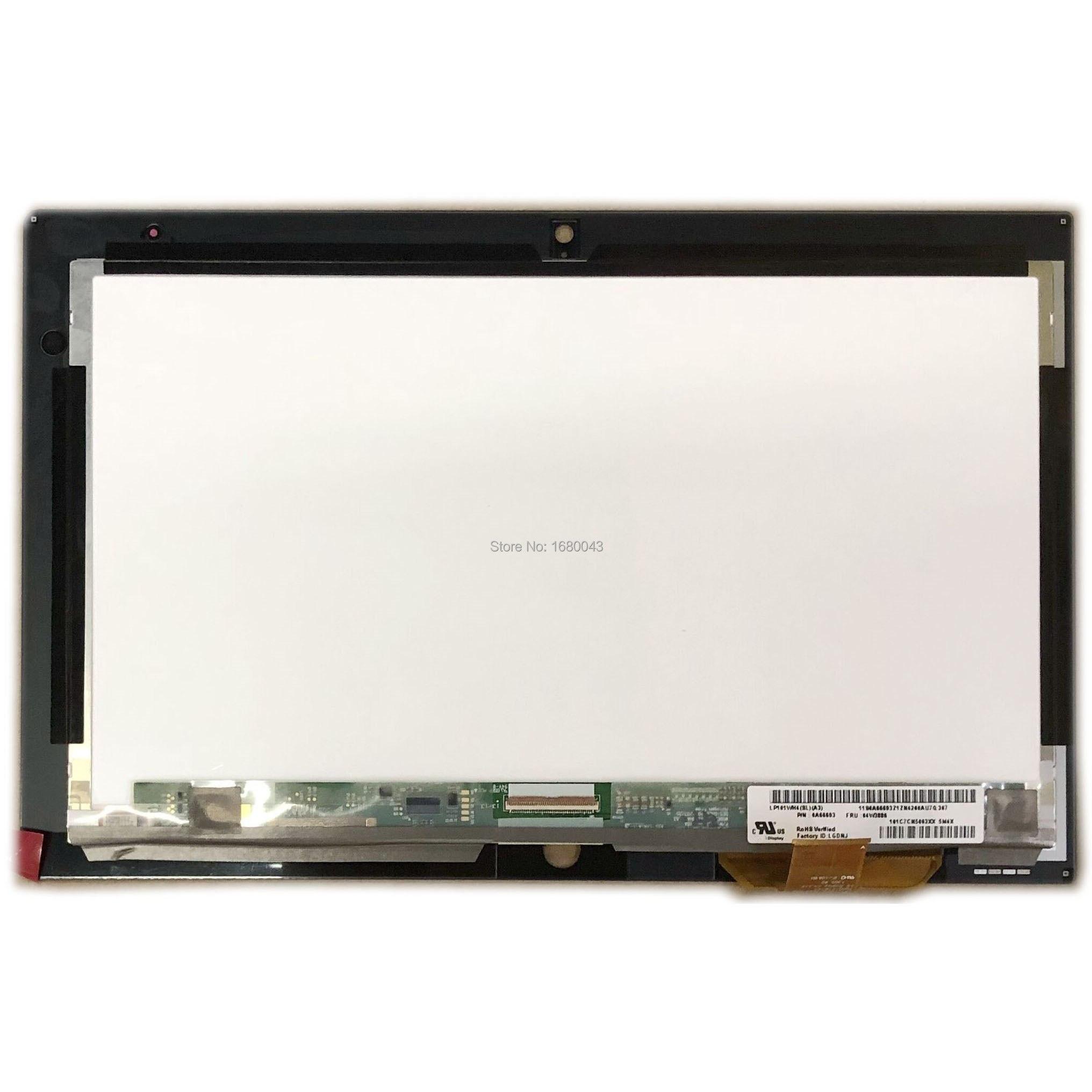 10.1 pouces LCD LED écran tactile écran tactile numériseur assemblée verre LP101WH4 SLA3 pour Lenovo ThinkPad tablette 2 P/N 0A66693 FRU 04W3886