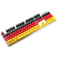 MantisTek German Flag Color New Replacement Mechanical Keyboard KeyCaps 109 Keycaps OEM Profile Double Shot Backlit PBT Key Caps