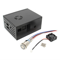 For Raspberry Pi X820 V3.0 SSD&HDD SATA Storage Board Matching Metal Case / Enclosure + Power Control Switch + Cooling Fan Kit