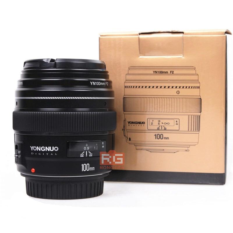 Yongnuo YN100mm F2 YN-100mm F2/C Moyen Téléobjectif Premier Objectif pour Canon EF Mont 5D 5D IV 1300D T6 760D 1300d 6d 600d 80d
