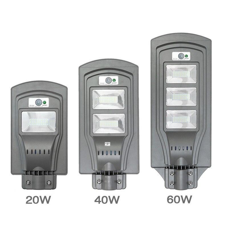 Smuxi High Quality LED Solar Street Lights 20W/40W/60W Super Bright Motion Sensor Waterproof Security Lamp For Garden Yard Wall