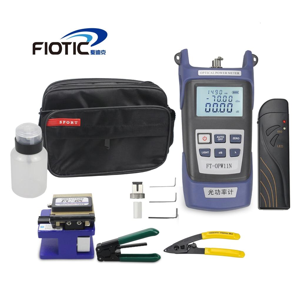 Fiber optic FTTH Tool Kit with Fiber Cleaver FC6S Optical Power Meter 5KM Visual Fault Locator