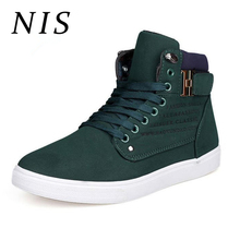 NIS Large Size High Top Casual Sneakers Men Vulcanize Shoes Soft Sole Lace-up Autumn Winter Shoes Men Canvas Footwear For Man