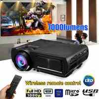 1080P 3D 7000 Lumen LED Projector Home Theater Multimedia HDMI/USB/VGA for Home Cinema
