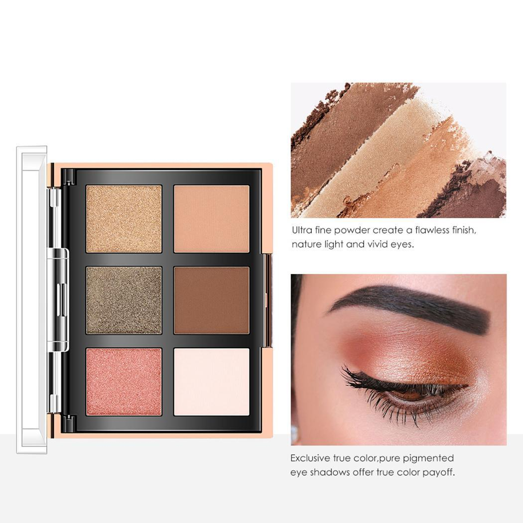 2 Powder 25g 3 Years Palette All Skin Type With The Best Service Eye Shadow Fast Deliver Women Soft Long Lasting With Brush Eyeshadow Blusher 6 Eyeshadow Beauty & Health