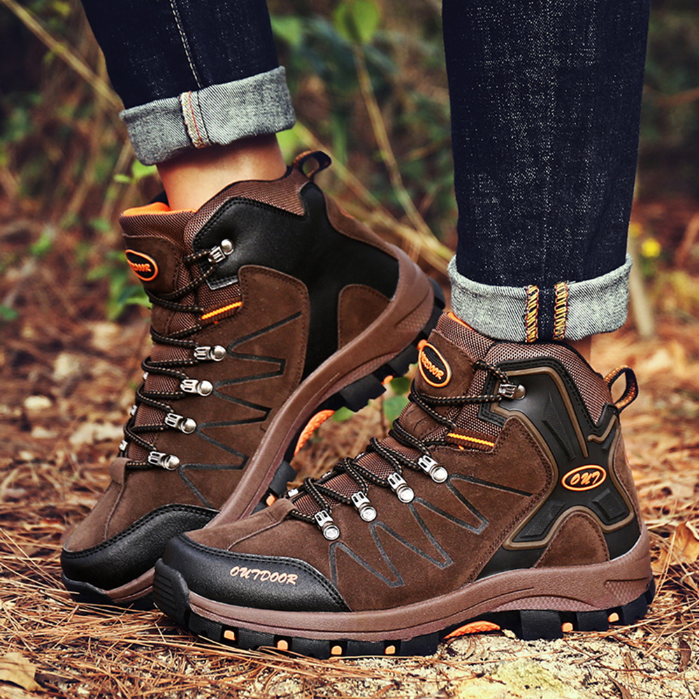 2019 new high help outdoor rubber bottom hiking shoes Men casual sports running male shoes Breathable sneakers Walking shoes