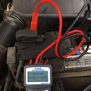 Image 3 - Wersja wielojęzyczna MICRO 200 Automotivo bateria cyfrowy analizator baterii CCA tester akumulatora samochodowego 12V narzędzie diagnostyczne