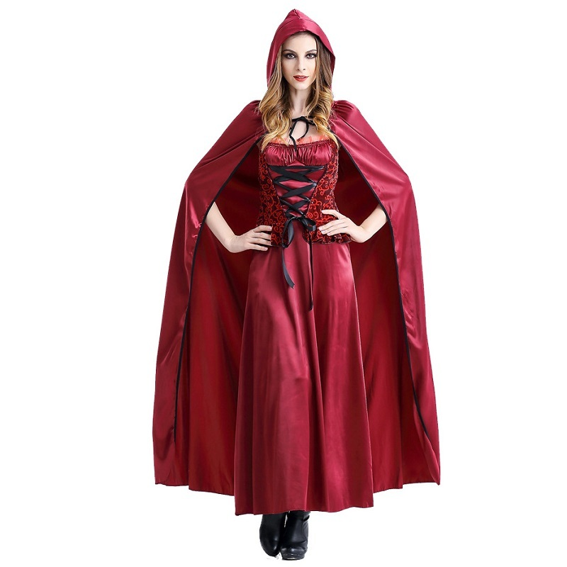 Hot Little Red Riding Hood Cosplay Costume Women Outfit Halloween Carnival Uniforms Party Fancy Dress Cloak Role Play Costumes