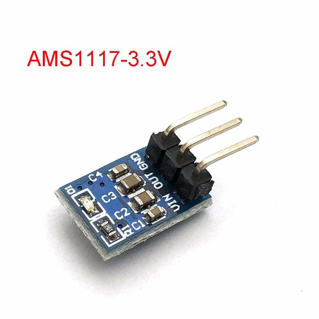 5 V à 3.3 V DC-DC abaisseur de l'alimentation Module Buck AMS1117 800MA tension de démarrage automatique réglable