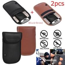 Feegow Anti Theft RFID การปิดกั้นสัญญาณ Faraday Keyless Entry 2pcs กระเป๋า RFID การปิดกั้นสัญญาณกระเป๋าพวงกุญแจ