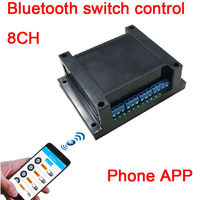 8ch dc 12v Bluetooth door lock Bluetooth access control APP Mobile phone Bluetooth control switch Bluetooth relay module