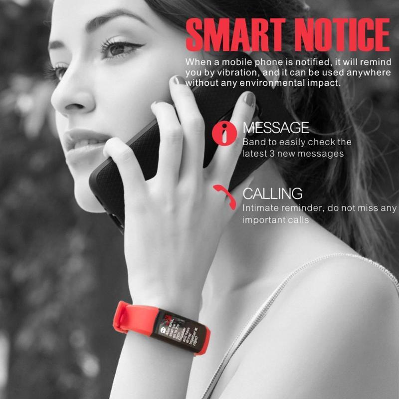 ALLOYSEED S906 gps Sport 0,96 дюймов IP68 Водонепроницаемый монитор сердечного ритма Смарт Браслет Smartwatch
