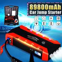 89800mAh Starting Device Booster 600A 12V Car Jump Starter Power Bank Car Starter For Car Battery Charger With emergency hammer