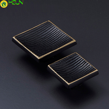 1 pc Square Stripe solid brass Door Knobs Kitchen Cabinet and Pulls Drawer/ Dresser Rustic Furniture