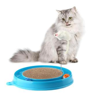 Cat Feeding Board with Mouse