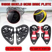 Pair Motorcycle Helmet Visor Shield Gear Base Plate Lens Holder For AGV K1 K3SV