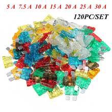 120PCS/set Assorted Mixed Standard Car Auto Blade Fuse 5 A 7.5 A 10 A 15 A 20 A 25 A 30 A